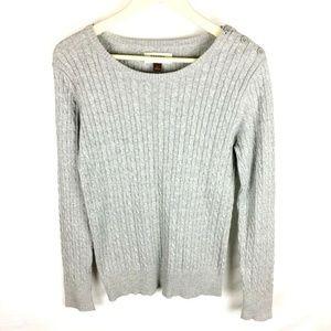 (V1-14) Sonoma Women's Large Gray Sweater